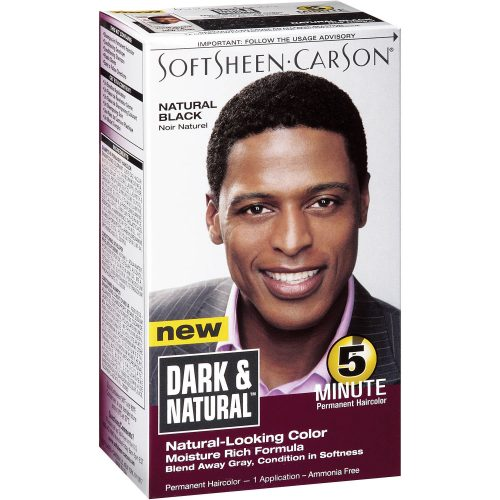 SOFTSHEEN CARSON DARK AND NATURAL MEN'S FIVE MINUTE HAIR COLOR-Men's Hair Products