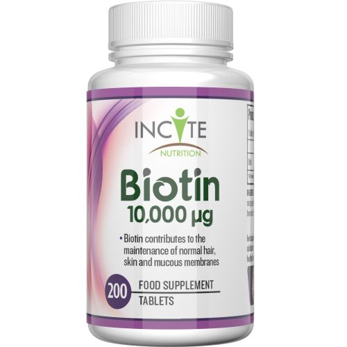 INCITE NUTRITION BIOTIN HAIR AND NAIL FOOD SUPPLEMENT