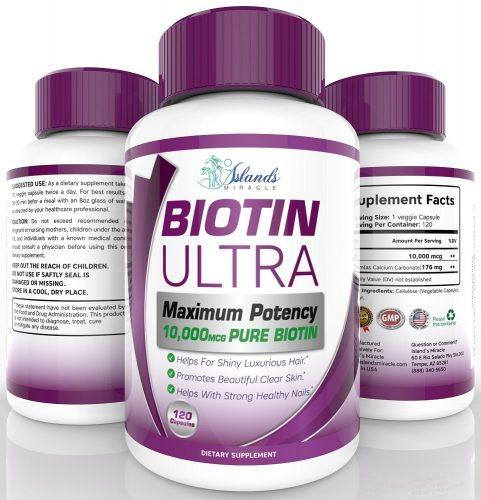 ISLAND'S MIRACLE PURE BIOTIN ULTRA VITAMINS FOR HAIR GROWTH