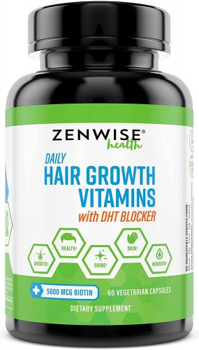 ZENWISE labs hair growth vitamins + DHT Blocker