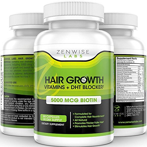 ZENWISE LABS HAIR GROWTH VITAMINS + DHT BLOCKER - fast hair growth products