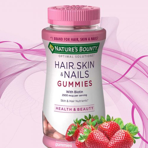 Nature's Bounty Hair, Skin, & Nails Gummies With Biotin - fast hair growth products