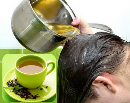 Rub Green Tea into Your Hair - natural ways to stop hair fall