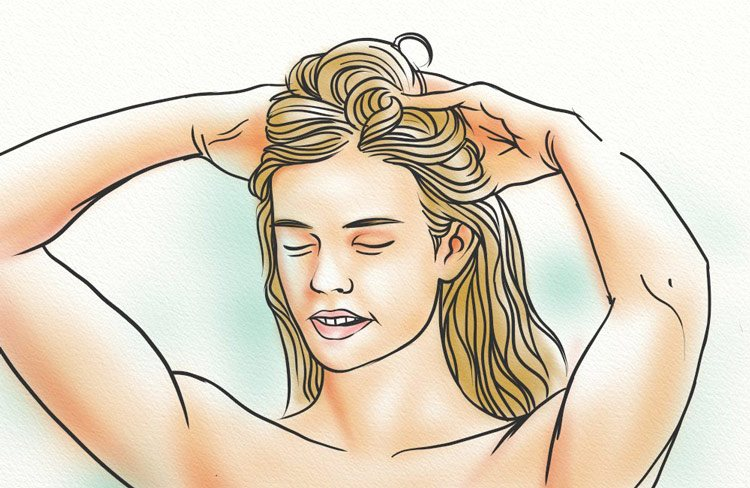 Performing Scalp Exercises