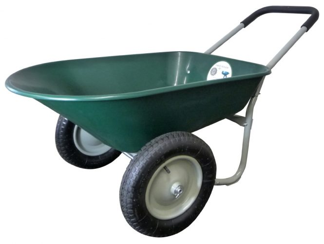 Marathon Dual-Wheel Wheelbarrow
