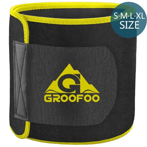 2. GROOFOO Adjustable Ab Belt