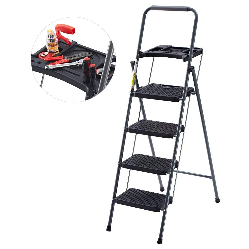 Finether Folding Four-Step Ladder
