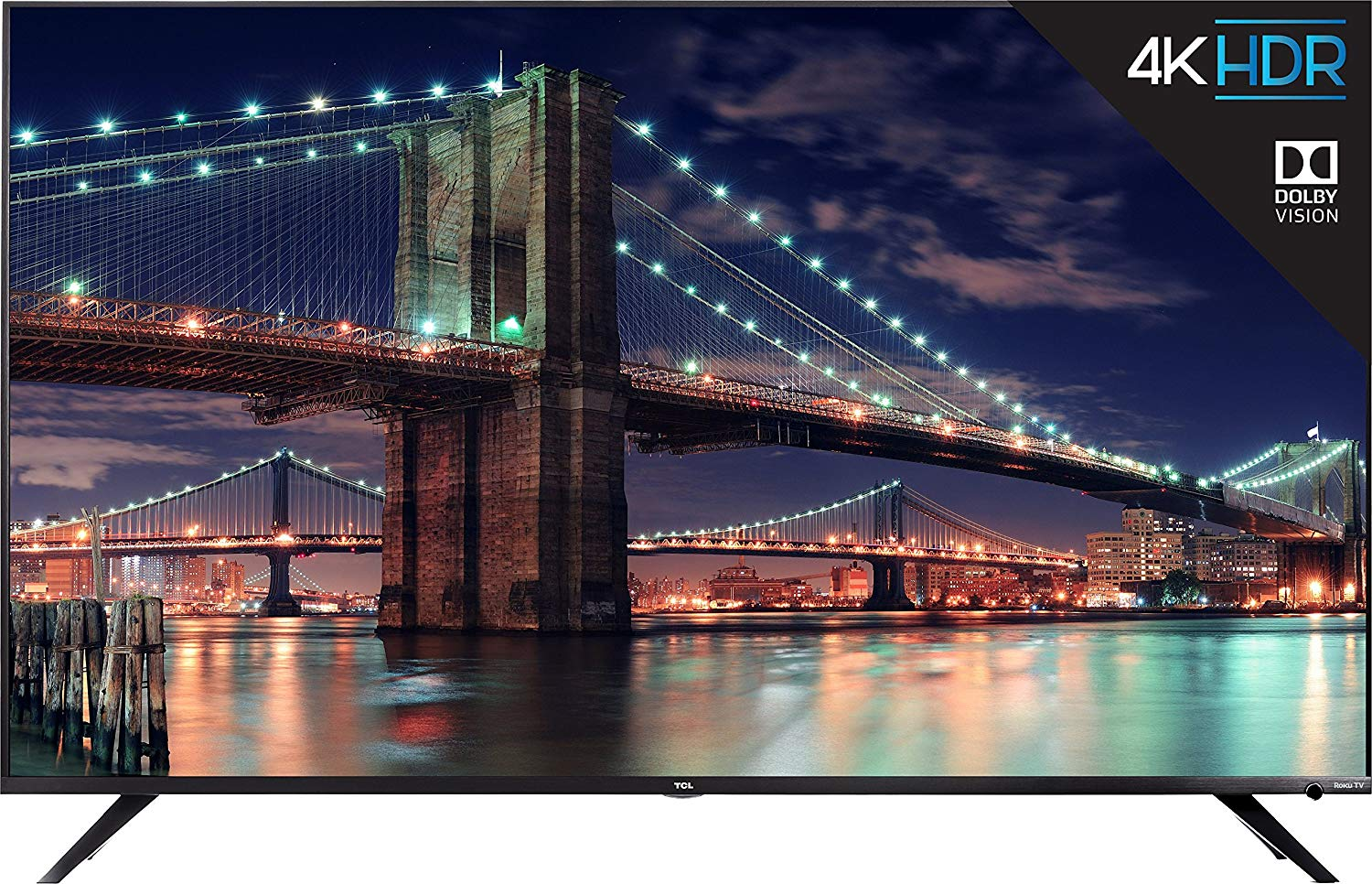 TCL 55R617 4K Ultra HD Roku Smart LED TV