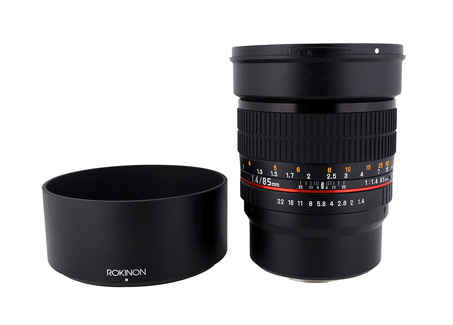 Roll over image to zoom in Rokinon 85M-MFT 85mm F1.4 Ultra Wide Lens for Micro Four-Thirds Mount Fixed Lens for Olympus/Panasonic Micro 4/3 Cameras