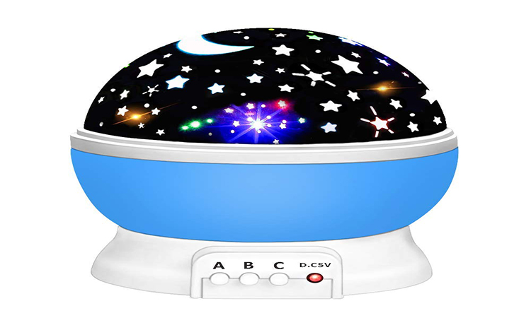 Our Day Night Light Moon Star 360 Degree Rotation Unique Best Gifts for Kids