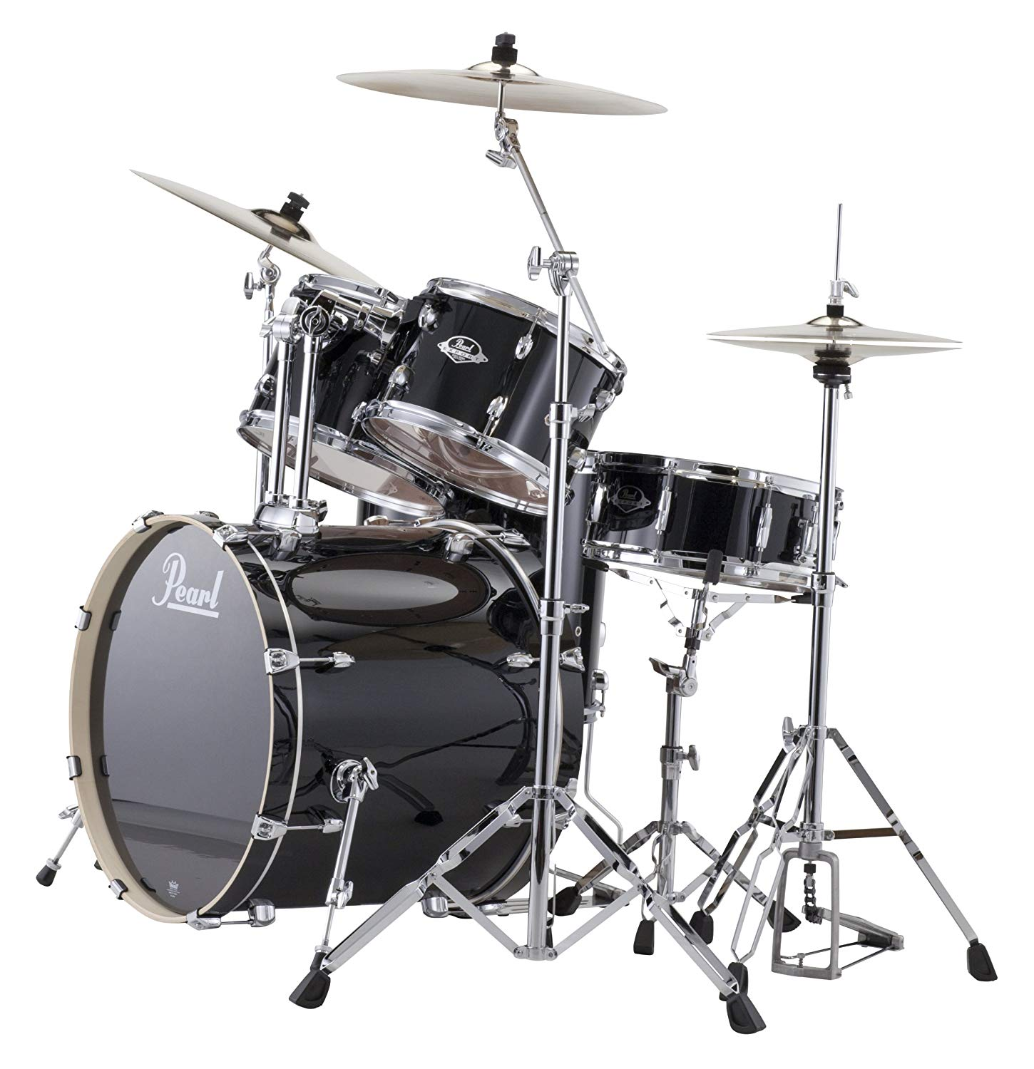 Pearl EXX725/C 5-Piece Export Standard Drum Set with Hardware - Jet Black