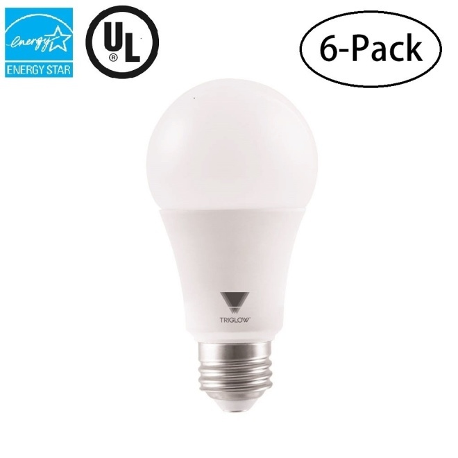 TriGlow T95211-6 (Pack of 6) LED 3-Way Bulb, 14 Watt (40W/60W/100W Equivalent) 3000K (Soft White Color), UL Listed and Energy Star Approved A19 LED Light Bulbs