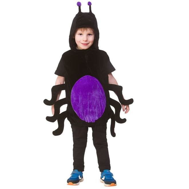 Child/Kids Unisex Spider Animal Tabard Fancy Dress Costume (One Size 3-5 years)