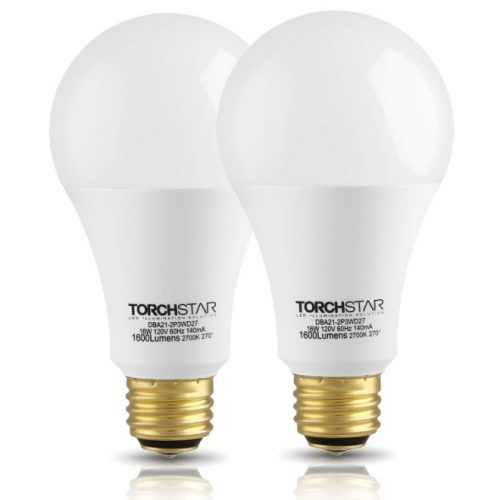 TORCHSTAR 3-Way 40/60/100W Equivalent LED