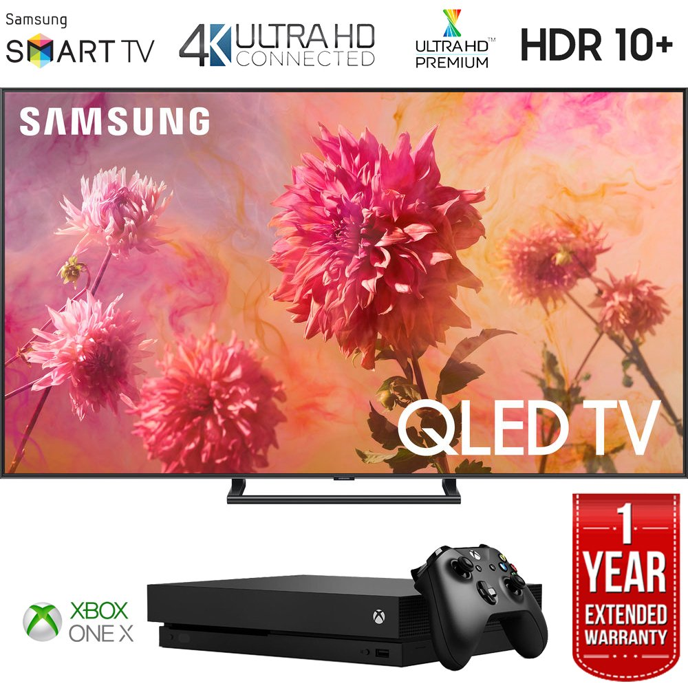 "Samsung QN75Q9FNA 75"" Q9FN QLED Smart 4K UHD TV (2018 Model) with Microsoft Xbox One X 1TB Console"