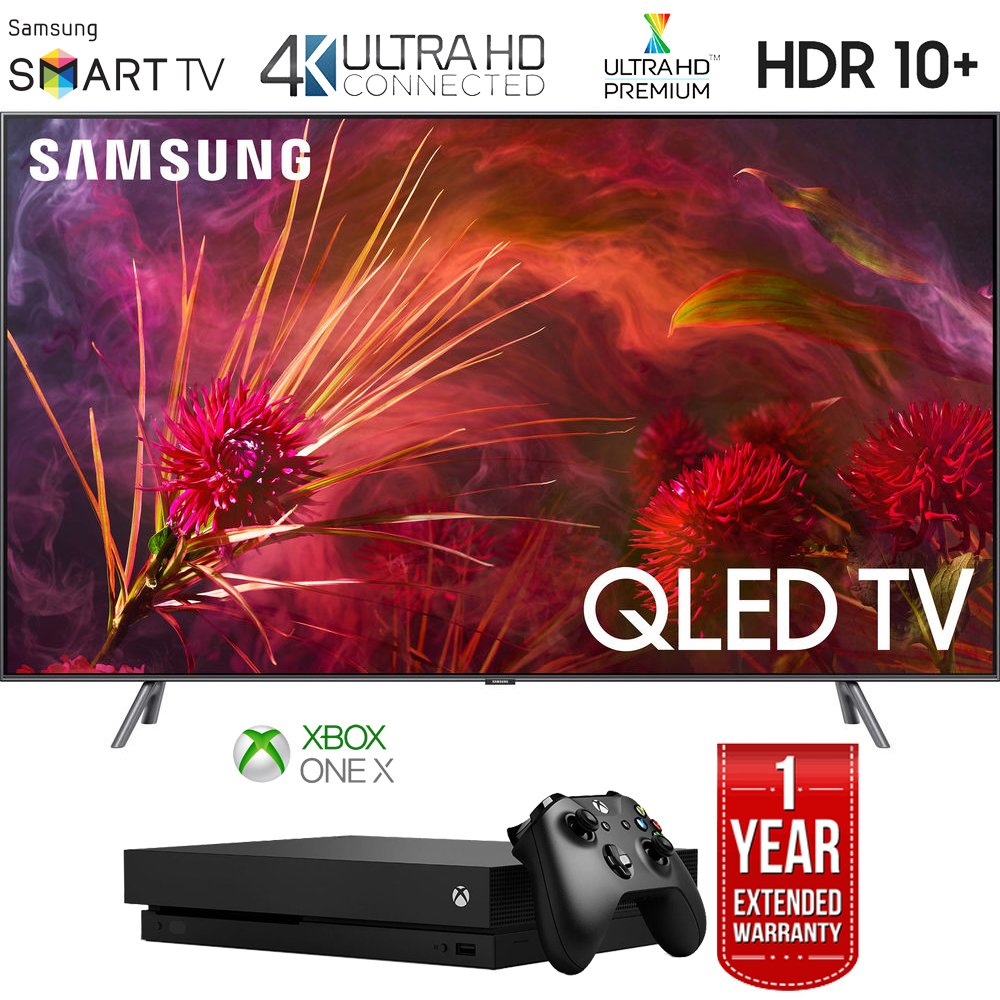"Samsung QN75Q8FNB 75"" Q8FN QLED Smart 4K UHD TV (2018 Model) with Microsoft Xbox One X 1TB Console Bundle"