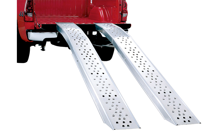 """108/"""" Arched Aluminum Folding Dual Runner ATV Loading Ramps"""