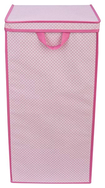 Delta Children Enterprise Tall Nursery Clothing Hamper, Barely Pink Polka Dot