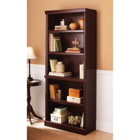 Better Homes and Gardens Ashwood Road 5-shelf Bookcase, multiple finishes cherry