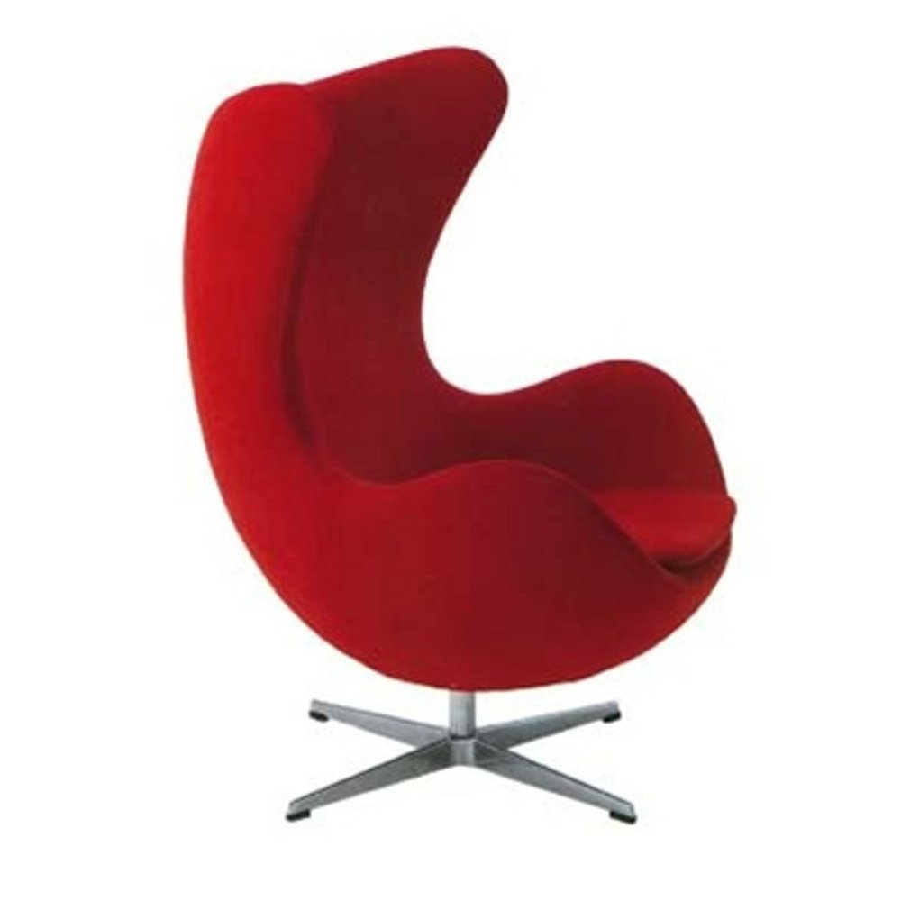 Egg Chair in Wool (Red)