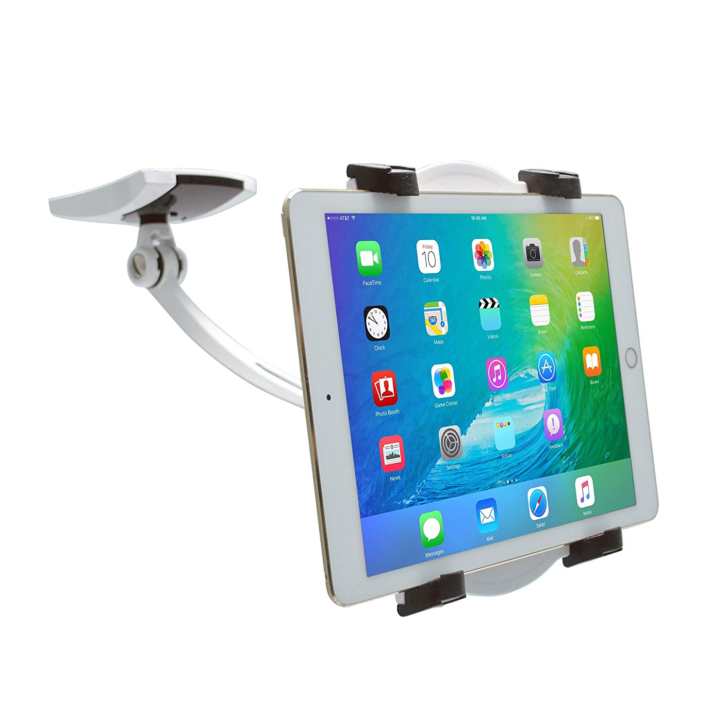"CTA Digital Wall/Under-Cabinet & Desk Mount with 2 Mounting Bases for 7-13"" Tablets, Including 12.9-inch iPad Pro (2018) and 11-inch iPad Pro (2018)"