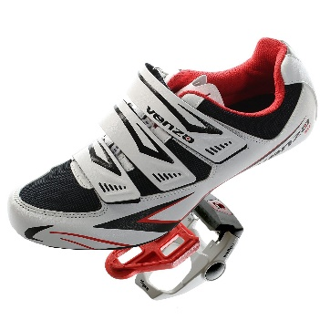 Venzo Road Bike Bicycle Shoes & Pedals - Mountain Bike Shoes for Flat Pedals