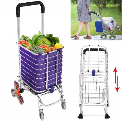 Folding Shopping Cart, Stair Climbing Utility Cart