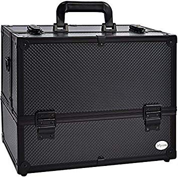Makeup Train Case Professional Adjustable 6 Trays Cosmetic Cases