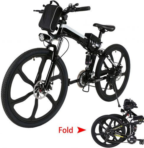 Aceshin Folding Electric Mountain Bike