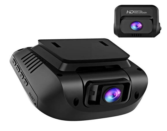 Both 1080P FHD Front and Rear Dual Lens Dash Cam
