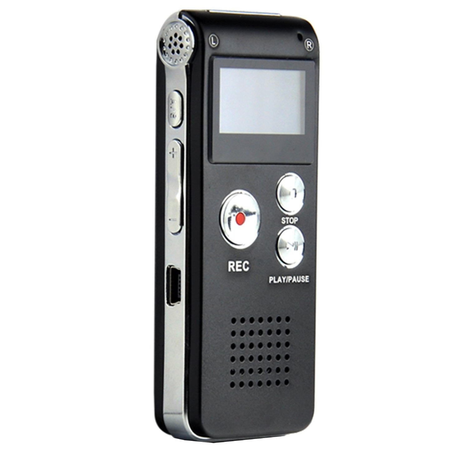 Aketek MEMTEQ 8GB Digital Voice Recorder 8G Dictaphone MP3 Player USB WAV + Microphone Speaker