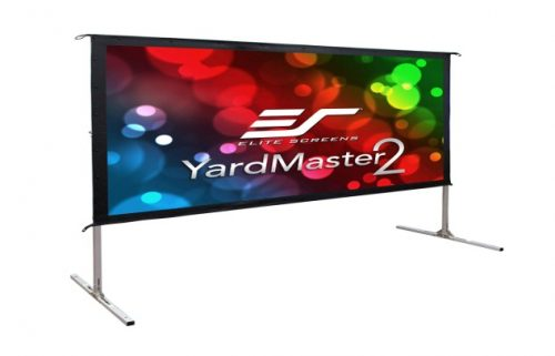 Elite Screens Yard Master 2, 120 inch Outdoor Projector Screen with Stand