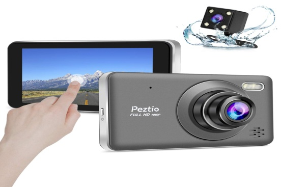 Dual Dash Cam Front and Rear, 1080P Full HD Car DVR Dashboard Camera Recorder: