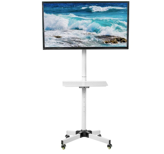 "VIVO White Mobile TV Cart for 23"" to 55"" LCD LED Plasma Flat Screen Panel"