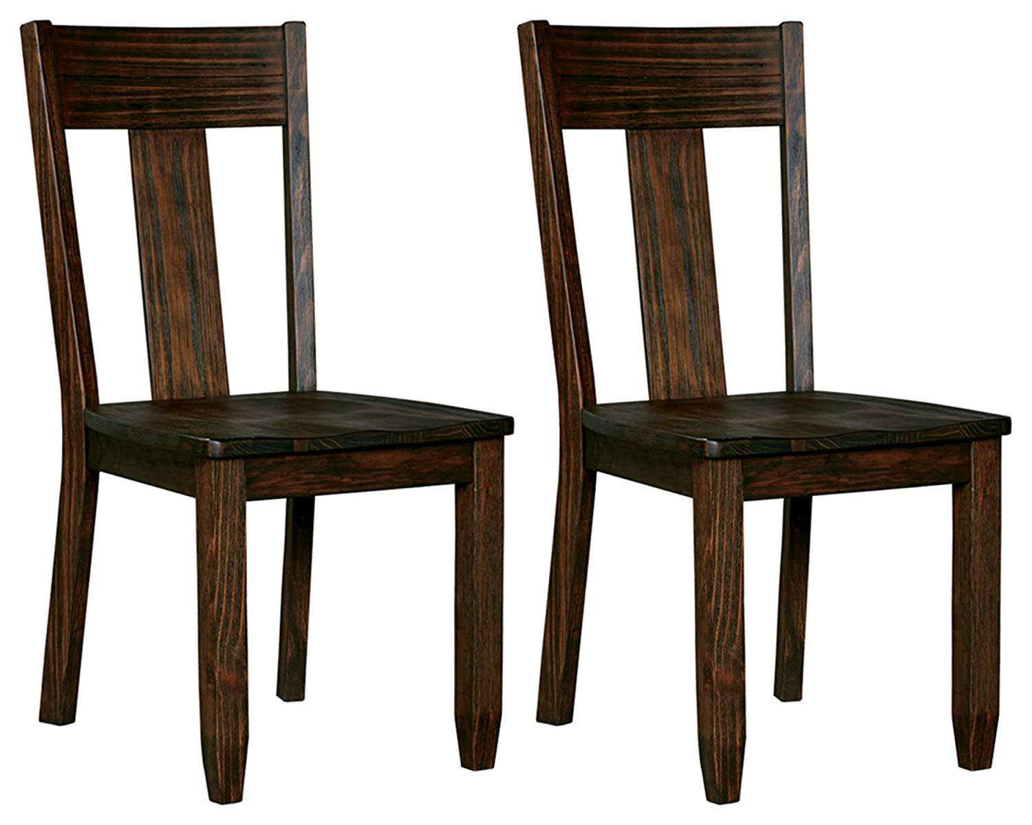 Ashely Furniture Signature Design- Trudell Dining Room Chair- 100% Pine Wood- Set of 2 – Dark brown