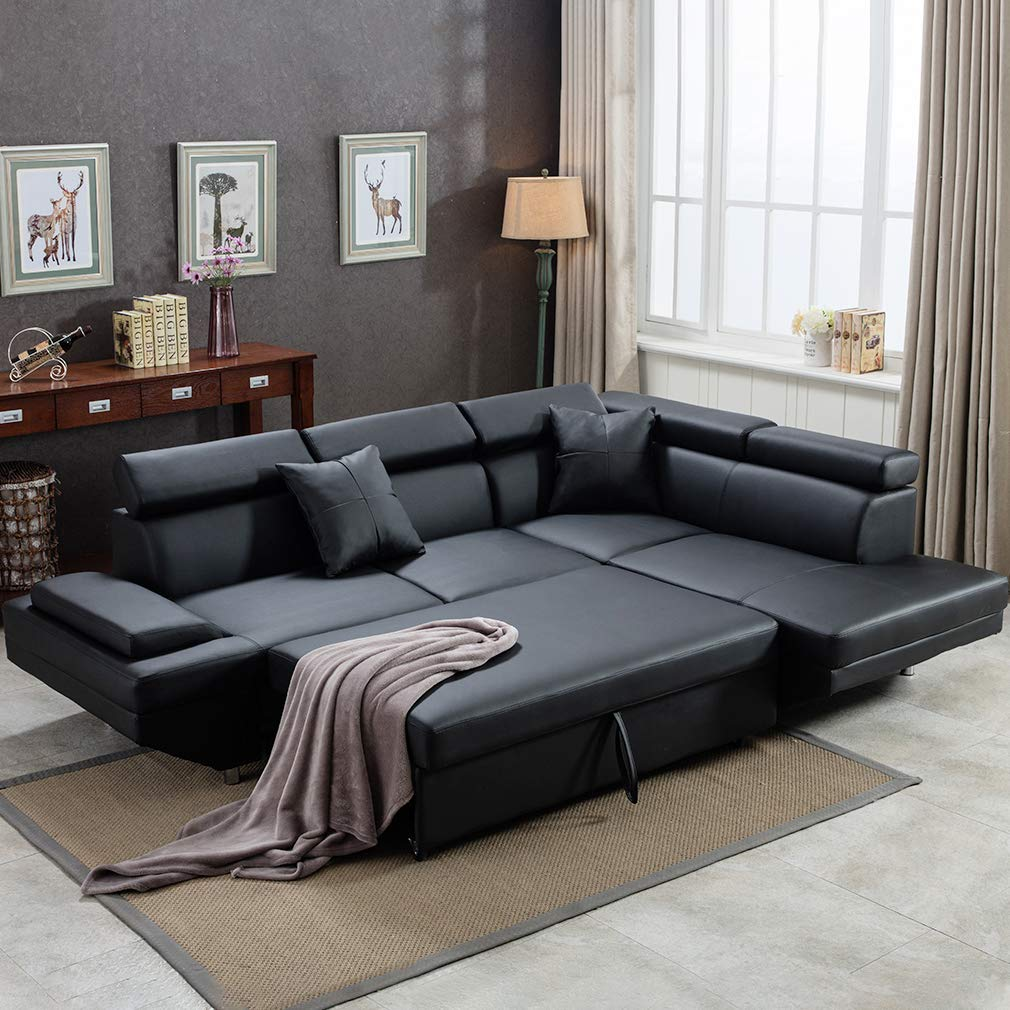Sofa Sectional Sofa Futon Sofa Bed Corner Sofas for Living Room Furniture Couch and Sofas Set Leather Sleeper Modern Contemporary Upholstered - Living room