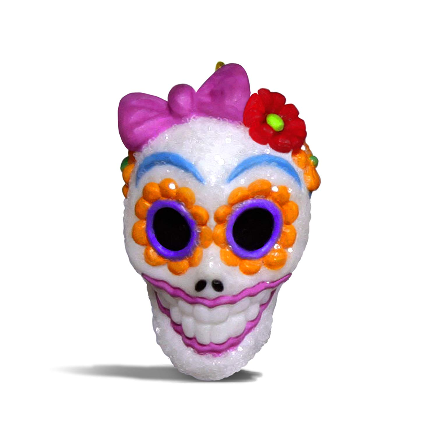 Hallmark Keepsake Halloween Decor Mini Ornament 2018 Year Dated, Sugar Skull Gal Miniature, 1""