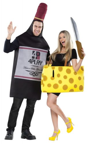 FunWorld Perfectly Paired Wine And Cheese Set - Couple Halloween costumes