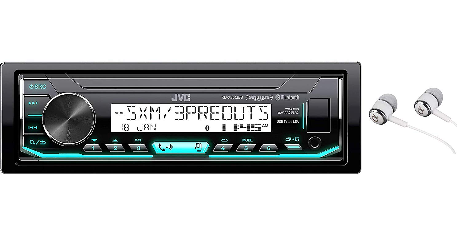 JVC KD-X35MBS Single DIN SiriusXM Bluetooth