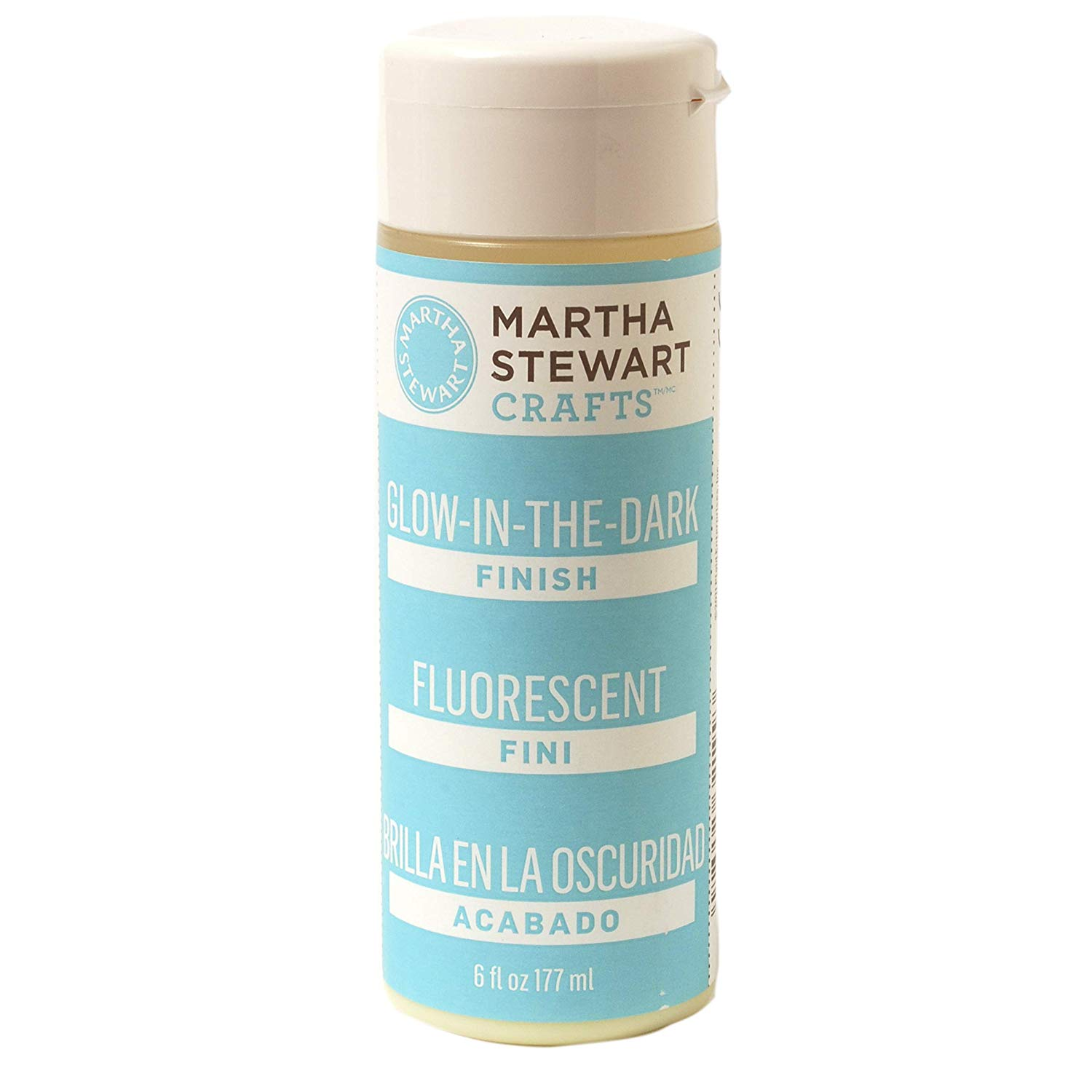 Martha Stewart Crafts Martha Stewart Glow-in-The-Dark Finish, 6 Ounces Paint, 6 oz,