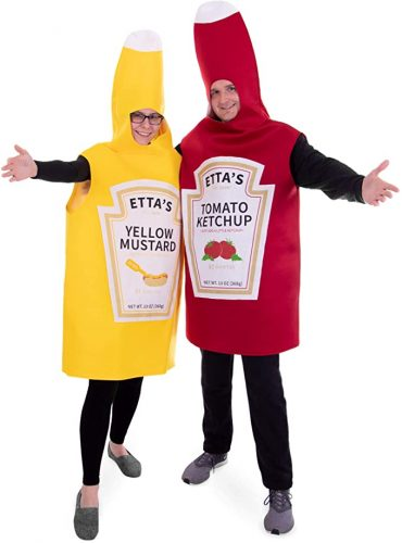 Ketchup and Mustard Couple's Halloween Costume - Couple Halloween costumes