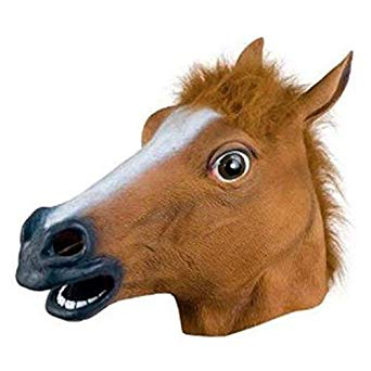 Horse Head Mask - Halloween Costume Theater Prop Novelty