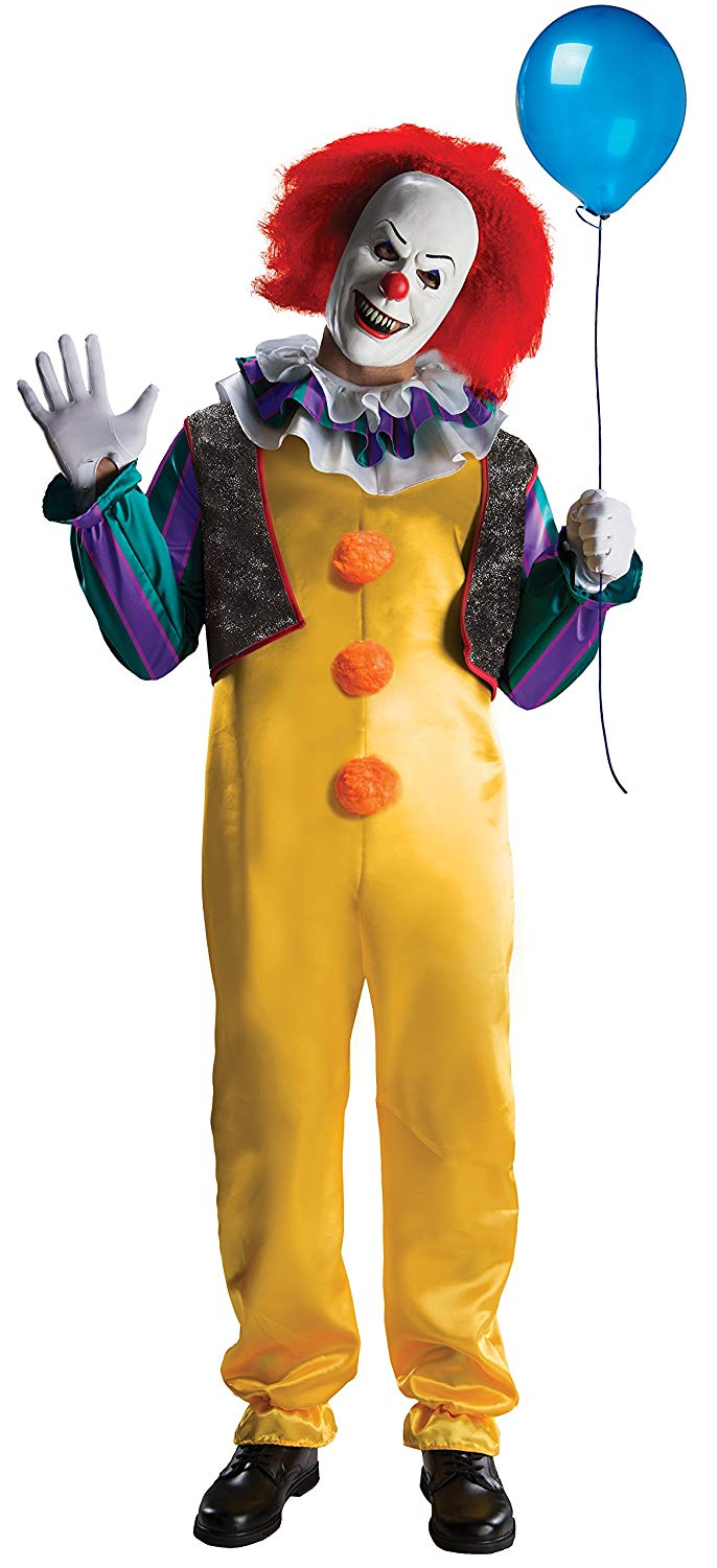 Rubie's IT The Movie Adult Pennywise Deluxe Costume, As As Shown, Standard
