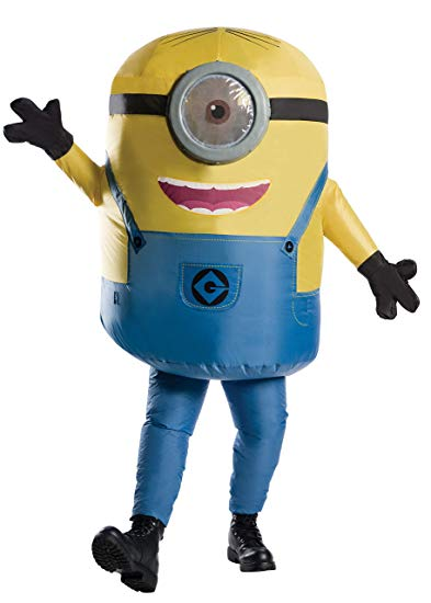 Rubie's Men's Minions Inflatable Minion Stuart Costume, Yellow, Standard