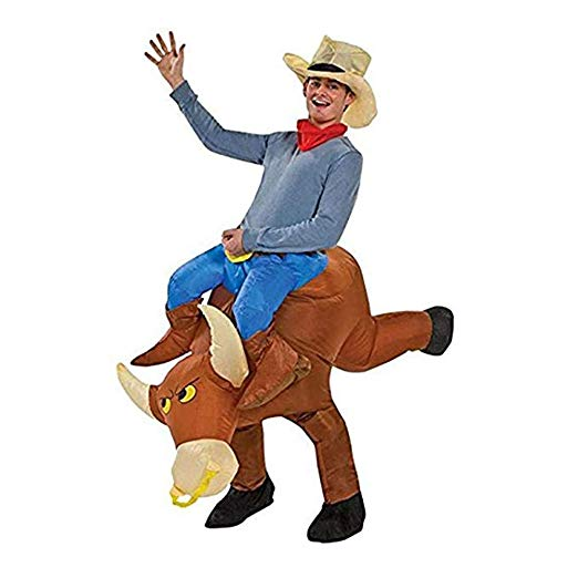 TOLOCO Inflatable Costume | Inflatable Costumes For Adults Or Child | Halloween Costume | Blow Up Costume (Bull-Adult)