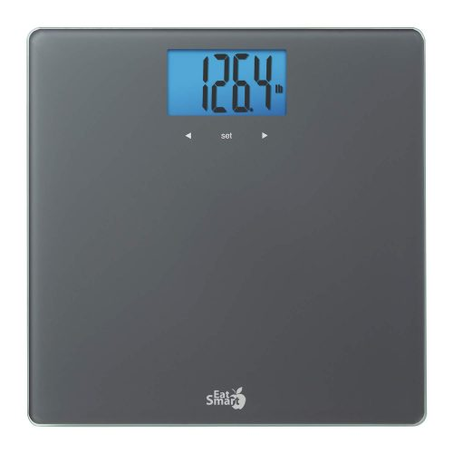 EatSmart Gray Glass BMI/Weight Tracker Blue Backlight