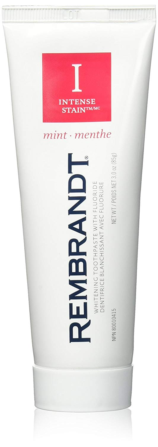 Rembrandt Toothpaste, Intense Stain, Mint Flavor, 3.52-Ounce Tubes (Pack of 3)
