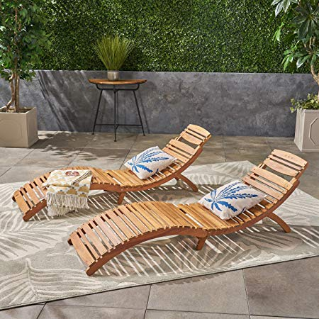 Lisbon Outdoor Folding Chaise Lounge