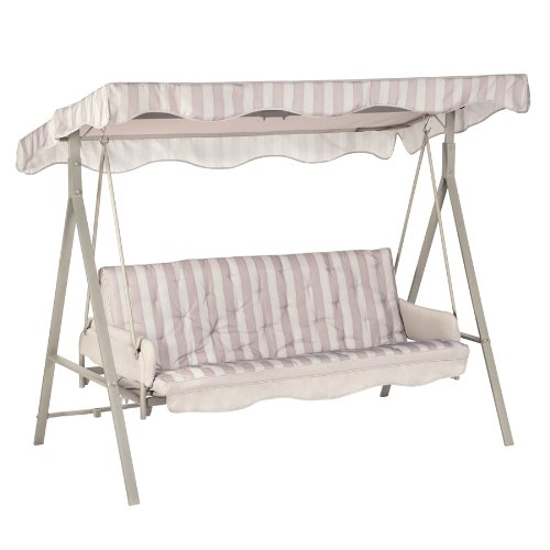 Garden Winds LCM621GY-RS Garden Treasures 3 Person Swing RipLock 350 Replacement Canopy