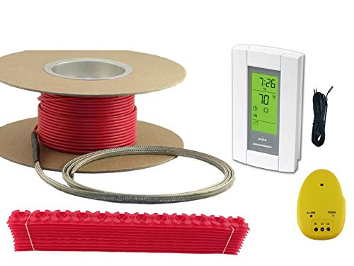 50sqft Cable Set Electric Radiant Floor Heat Heating System with Aube Digital Floor Sensing Thermostat